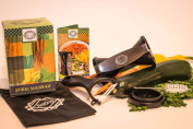 Vegetable Spiralizer Slicer/Ceramic Peeler Bundle - Makes Fresh Cut Veggie Pasta - Zucchini and Carrot Spaghetti Maker - Must-have Kitchen Tool - Healthful Meals Using Favourite Recipes - Tasty Alternative to Unwanted Carbs, Wheat, Gluten, Sugar