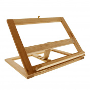 U.S. Art Supply® Large Wooden Book Rack Easel & Wood Cookbook Holder or Stand