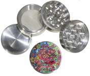 Fashion Weed Design Indian Aluminium Spice Herb Grinder Item # 110514-0032