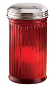 Miles Kimball Red Glass Sugar Dispenser