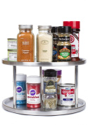 Greenco Stainless Steel Lazy Susan - 2 Tier Design, 360-degree Turntable