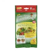 Debbie Meyer GreenBags Freshness-Preserving Food /Flower Storage Bags, Large, 10-Pack