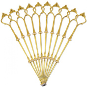 10 X Sets 2 or 3 Tier Cake Plate Stand Fittings Gold Plate Stands New