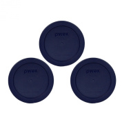 Pyrex Blue 2 Cup Round Storage Cover #7200-PC for Glass Bowls 3-Pack