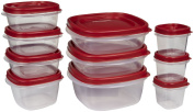Rubbermaid Easy Find Lids Food Storage Container, 20-Piece Set, Red