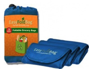 Easy Fold Bag - Reusable Grocery Bags - 3 Pack, Cobalt Blue