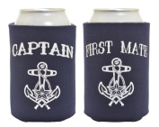 Captain and First Mate 2 Pack Can Coolies Navy