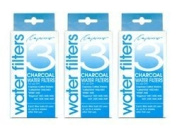Capresso 4440.90-3PK 9 Charcoal Water Filters, 1 Year Supply (fits models 437 440 441 452 453 454 MT