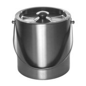 Mr. Ice Bucket 260-1 Brushed Stainless-Steel Ice Bucket, 2.8l