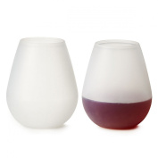 WineMeUp Silicone Wine Glasses - Best Stemless Unbreakable Cups - Set of 2