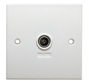 Antiference W700 Non Isolated Tv Cable Wall Plate