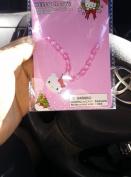 Hello Kitty Beaded Ribbon Necklace with charm