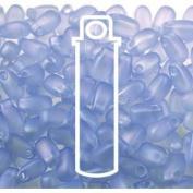 Light Sapphire Matte AB 3x5.5mm Long Drop Miyuki Japanese Glass Seed Beads 25 Gramme Tube