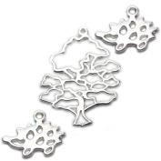Amoracast Exclusive Sterling Silver Wise Oak Tree Pendant Sampler Set - Hedgehog