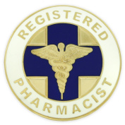 Registered Pharmacist Medical Caduceus Lapel Pin