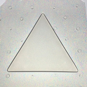 Flexible Resin Mould Triangle Shape 6.4cm X 0.6cm Deep