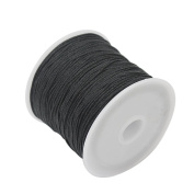 Useful Black Nylon Cord Thread 40m Length 1mm Beading Bracelet Necklace Wire