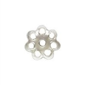 Sterling Silver 1.2mm by 4.9mm Filigree Flower Bead Cap. Sold as - 20 Pieces Per Pack