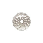 Sterling Silver 5.0mm Perf Flower Bead Cap. Sold as - 20 Pieces Per Pack