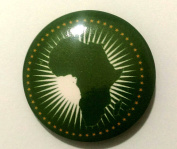 African Union AU Flag Lapel Pin Button Badge Applique Emblem 3 Cm Diameter