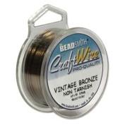Vintage Bronze Colour Wire 28 Gauge Round Wire Beadsmith