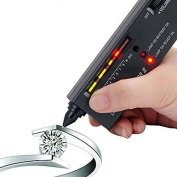 Worldoor® Jeweller Diamond Tool Kit Portable Pen Hardness Identification Mini Tester Black