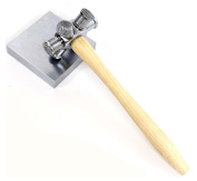 ToolUSA Premium Multi-sided Texturing Hammer with 10cm Steel Bench Block