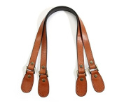 60cm byhands Genuine Leather Crack Pattern Tan Purse Handles