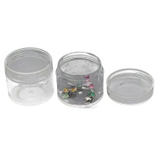6pcs Loose Bead Storage Container Tins 3.8x3.3cm