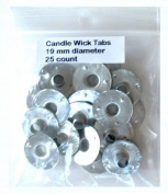 Candle Wick Tabs 19 mm Diameter 25 Count