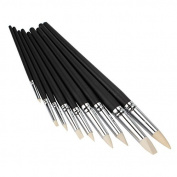 Sculpting Tools Black Wood Shank Clay Shaper 16-30cm Length Set of 9