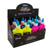BAZIC 200 ml Neon Colour Glitter Glue, Case of 12