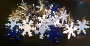Snowflake Brads - Winter Colours Mix - Bulk 50ct