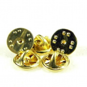 25pcs Metal Pin Gold Backs-butterfly Clutch Pin Backs with Nails Included
