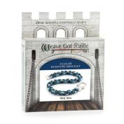 Weave Got Maille 3-Colour Byzantine Chain Maille Bracelet Kit, Misty Blue