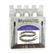 Weave Got Maille 3-Colour Byzantine Chain Maille Bracelet Kit, Field of Heather