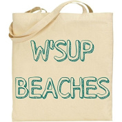 W'sup Beaches Tote Bag in Natural Colour