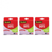Scotch 010-300M Craft Permanent Adhesive Dots, Medium, Pack of 900