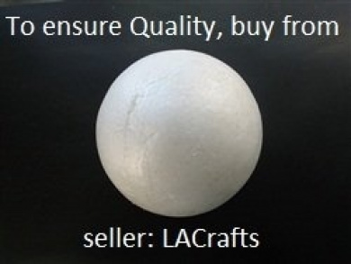 20cm Smooth Foam Craft Ball - Polystyrene (Not Styrofoam) - RARE - 1 PC