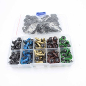 100pc 10mm Mix Colour Plastic Safety Eyes for Bear, Doll, Puppet, Plush Animal and Craft One Box