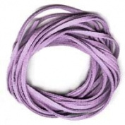 PURPLE Faux Leather Suede Necklace Cord 3m Ultra Microfiber
