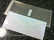 100 Pcs 4 5/16 X 9 3/4 Clear #10 Business Envelopes Bags