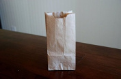 Extra Small Brown Paper Bags 3 x 5.1cm x 15cm party favours, Paper Lunch Bags, Grocery Bag, wedding favour bags, kraft bags, paper bags 100 per pack