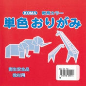 Origami Paper Single Colour 15cm (5.9 In) No.1 Red