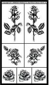 Armour Rub N Etch Stencil, Detailed Roses