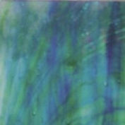 Kokomo - Blue-green Streaky Flem - Stained Glass Sheet - 20cm X 30cm