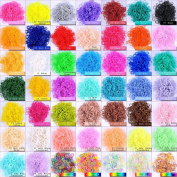 6000 PCS 240 Clips Bands Refills for Loom Rainbow Bracelet Dress Making