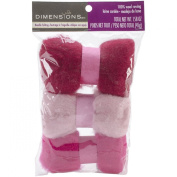 Dimensions Crafts 72-74012 Wool Roving Trio for Needle Felting, Pink