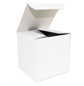 "White Wedding Favour Candy Gift Boxes 4x 10cm x 4"" - 50 Boxes"
