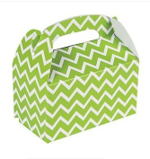 12 Lime Green Chevron Treat Boxes